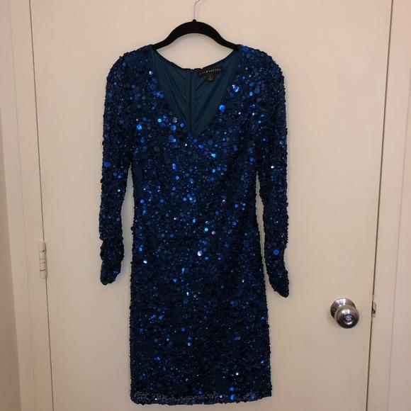 Aidan Mattox Dresses & Skirts - Aidan Mattox Blue Sequin Formal Dress Size 0